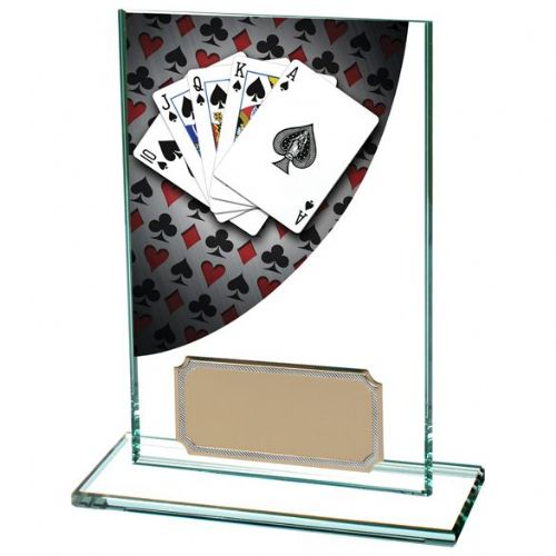 Colour Curve Poker Jade Glass Award 125mm